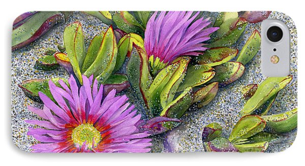 Ice Plant IPhone Case by Karen Wright