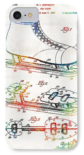 Ice Skate Patent - Sharon Cummings IPhone Case