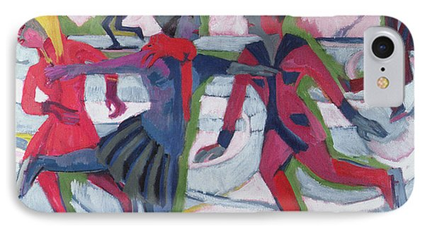 Ice Skaters  Phone Case by Ernst Ludwig Kirchner