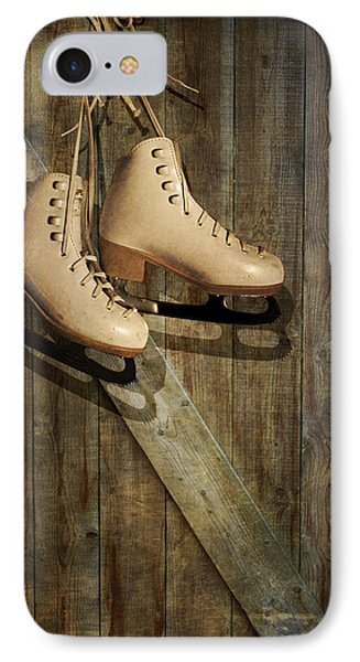 IPhone Case featuring the photograph Ice Skates Hanging On Old Barn by Ethiriel  Photography