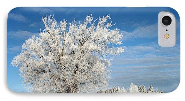 Ice Tree Phone Case by Brady D Hebert