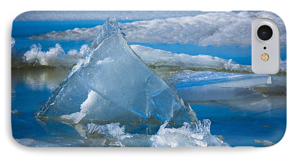 Ice Triangle Phone Case by Inge Johnsson