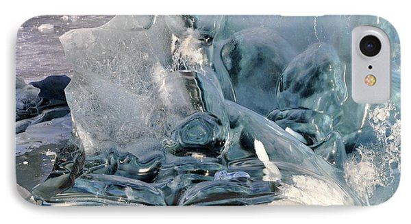 Iceberg Detail IPhone Case by Cathy Mahnke