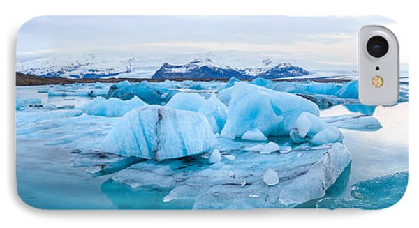 Icebergs Floating In Glacial Lake IPhone Case