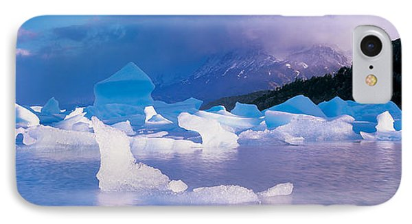 Icebergs Floating On Water, Lago Grey IPhone Case