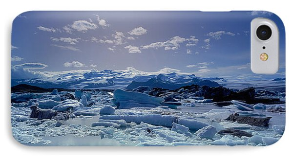 Icebergs Floating On Water IPhone Case