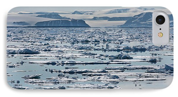 Icebergs, Hinlopen Strait, Spitsbergen IPhone Case by Panoramic Images