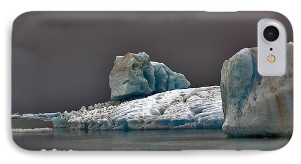 Icebergs Of Leconte Glacier IPhone Case by Cynthia Lagoudakis