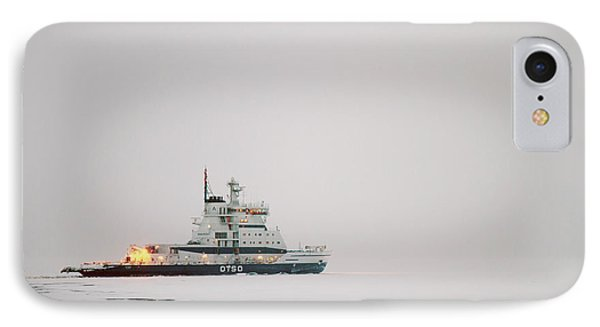 Icebreaker Ship In The Arctict  IPhone Case by Lilach Weiss