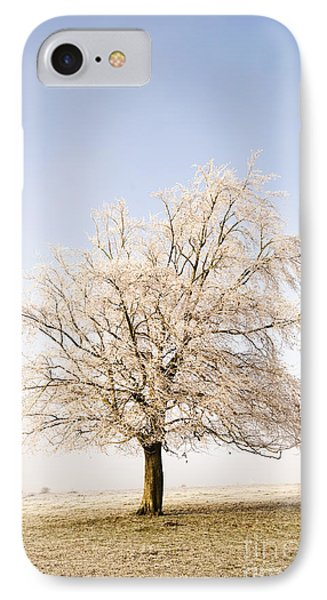 Iced Tree Phone Case by Anne Gilbert