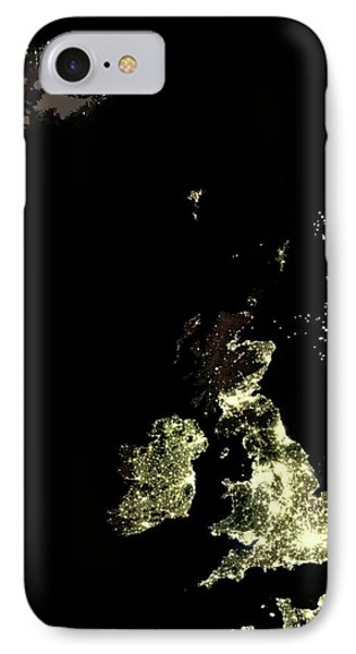 Iceland And British Isles At Night IPhone Case
