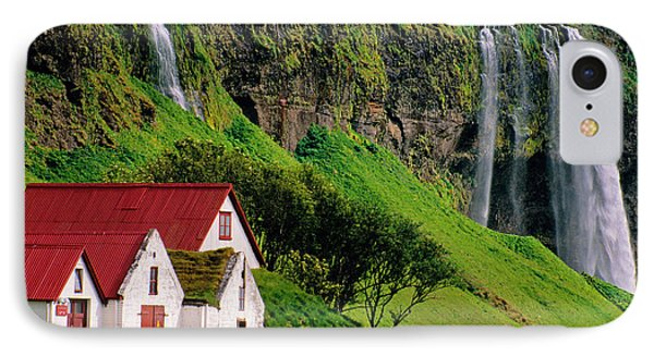 Iceland Farm Falls IPhone Case by Dennis Cox WorldViews