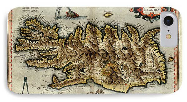 Iceland IPhone Case by Library Of Congress, Geography And Map Division