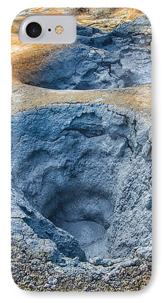 Iceland Natural Abstract Mudpot And Sulphur Phone Case by Matthias Hauser
