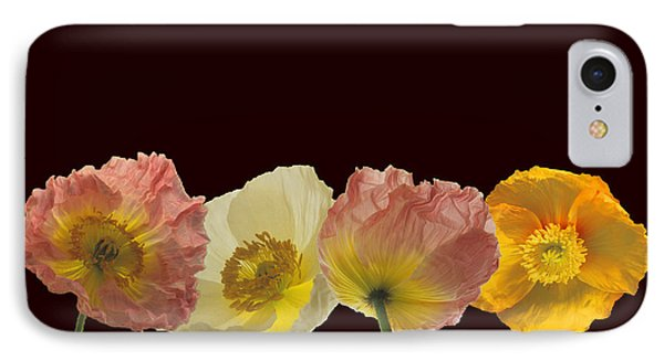 IPhone Case featuring the photograph Iceland Poppies On Black by Susan Rovira