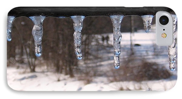 IPhone Case featuring the photograph Icicles On The Bridge by Nina Silver