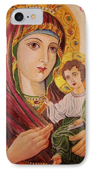 IPhone Case featuring the painting Icon by Nina Mitkova