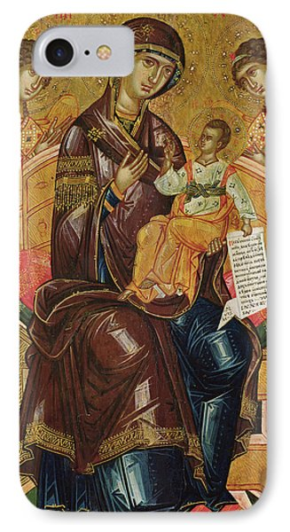 Icon Of The Virgin And Child With Archangels And Prophets IPhone Case by Longin