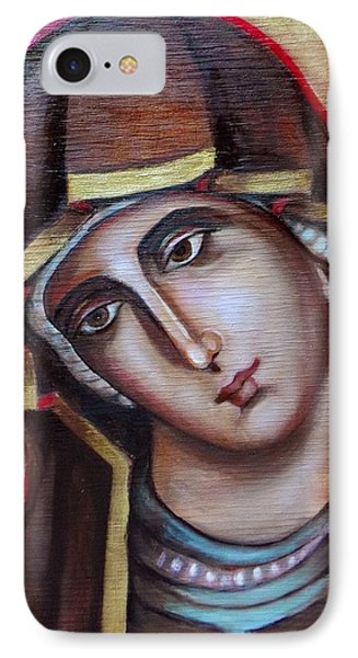 IPhone Case featuring the painting Icon Of Virgin Mary by Irena Mohr