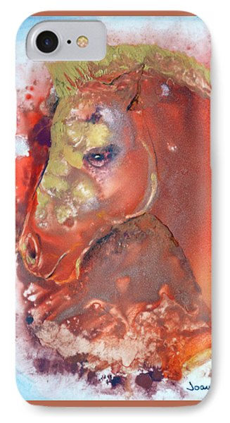 IPhone Case featuring the painting Iconic Horse Head by Joan Hartenstein