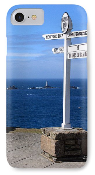 IPhone Case featuring the photograph Iconic Lands End England by Terri Waters