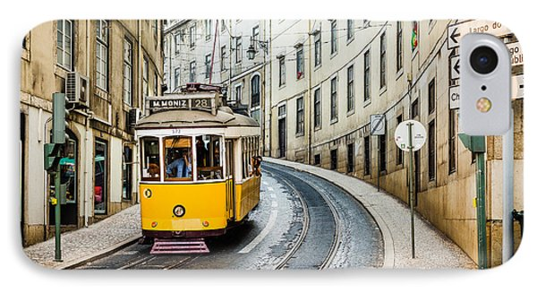Iconic Lisbon Streetcar No. 28 IIi IPhone Case by Marco Oliveira