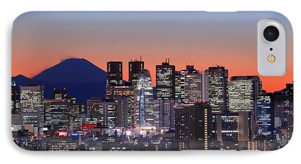 Iconic Mt Fuji With Shinjuku Skyscrapers IPhone Case by Duane Walker