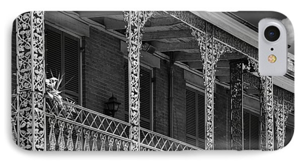 Iconic New Orleans Wrought Iron Balcony IPhone Case by Christine Till
