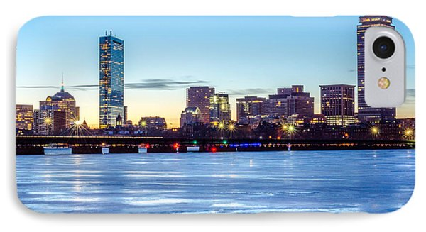 Icy Boston At Dawn IPhone Case by Mike Ste Marie