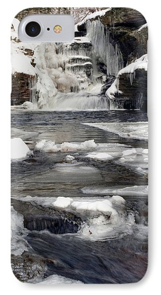IPhone Case featuring the photograph Icy Flow Below Murray Reynolds Waterfall by Gene Walls
