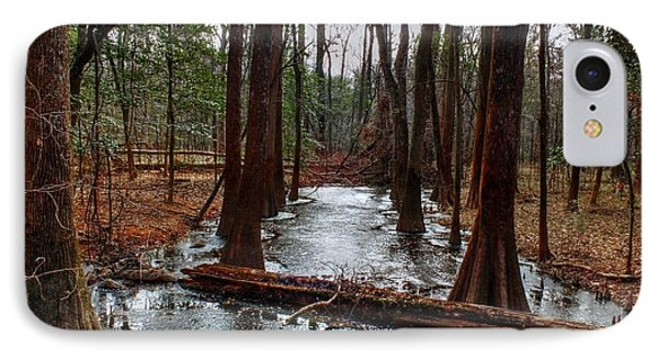 Icy River In The Bottomland Forest IPhone Case by Maurice Smith
