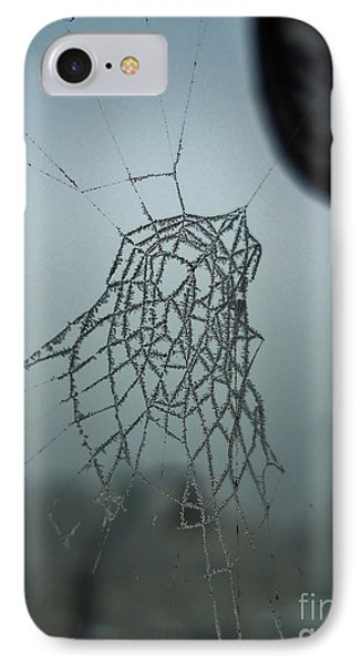 Icy Spiderweb IPhone Case by Ramona Matei