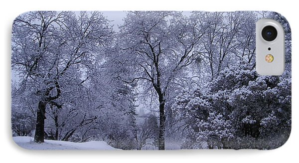 Icy Trees IPhone Case by Tom Mansfield