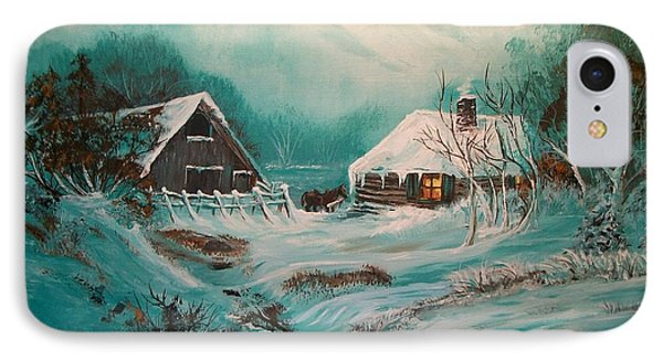 IPhone Case featuring the painting Icy Twilight by Sharon Duguay