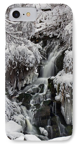 IPhone Case featuring the photograph Icy Waterfalls by Timothy McIntyre