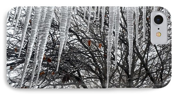 Icycles On The Eave IPhone Case by Ricardo J Ruiz de Porras