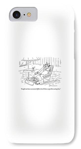 Ben Affleck iPhone 7 Case - I'd Have No Problem Eating by Danny Shanahan