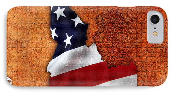 Idaho American Flag State Map IPhone Case by Marvin Blaine