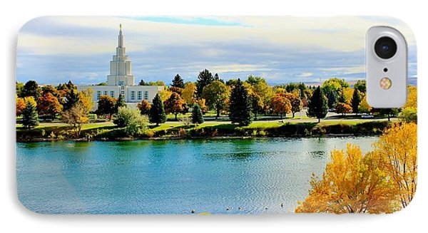 IPhone Case featuring the photograph Idaho Falls Temple by Benjamin Yeager