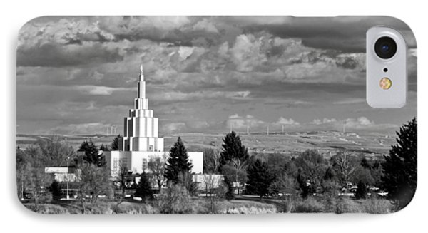 Idaho Falls Temple IPhone Case by Eric Tressler