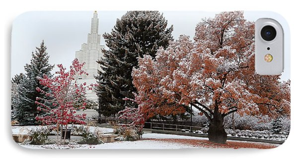 Idaho Falls Temple Winter IPhone Case
