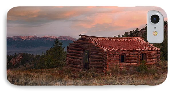 Idaho Pioneer Historical Cabin IPhone Case by Leland D Howard