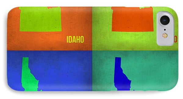 Idaho Pop Art Map 1 IPhone Case by Naxart Studio