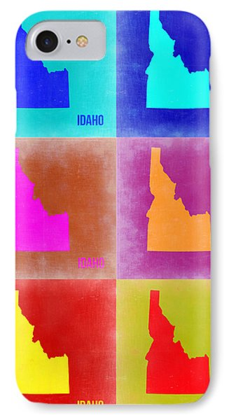 Idaho Pop Art Map 2 IPhone Case by Naxart Studio