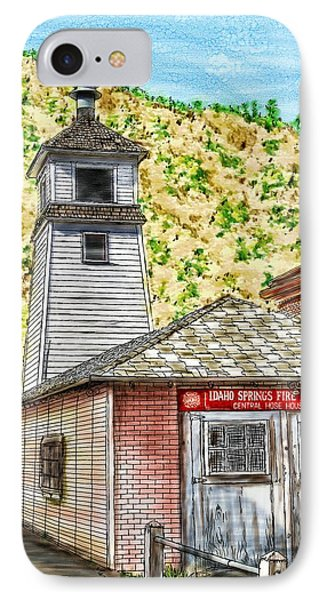 Idaho Springs Firehouse IPhone Case by Ric Darrell