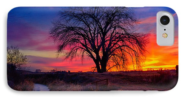 Idaho Winter Sunset IPhone Case by Greg Norrell