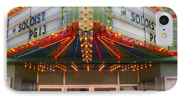 Ideal Theater In Clare Michigan IPhone Case by Terri Gostola
