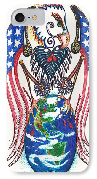 Idealistic Eagle With A Blue Egg Phone Case by Melinda Dare Benfield