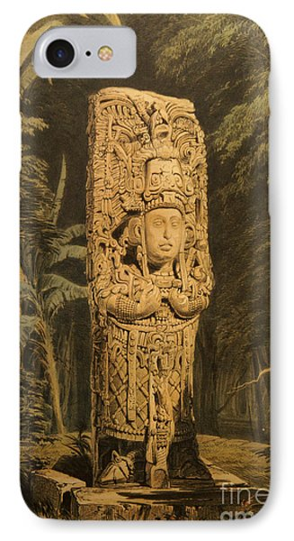 Idol At Copan By Frederick Catherwood IPhone Case by John  Mitchell