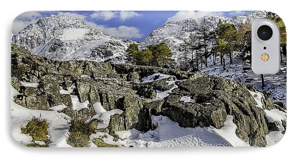 Idwal At Winter Phone Case by Darren Wilkes